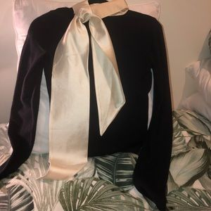 Tory Burch Cashmere Sweater with Silk Collar